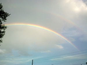 One of the many rainbows I've seen on my way to kickboxing